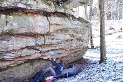 Rock Climbing Photo: Jason at the start to Pangaea on the Continent Bou...