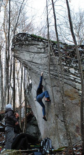 Brad Mathisen on The Admiral Boulder