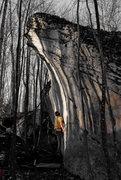 "Rock Climbing Photo: Aaron Parlier on the FA of ""Mono-y-Mono"""