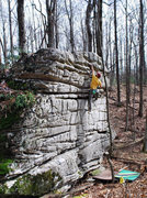 """Rock Climbing Photo: Parlier at the top of """"The Grinch"""""""
