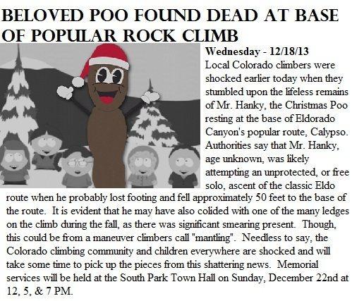 Mr. Hanky, Dead.