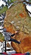 Rock Climbing Photo: Staring down the sloper on Uranus Is My Neptune.  ...