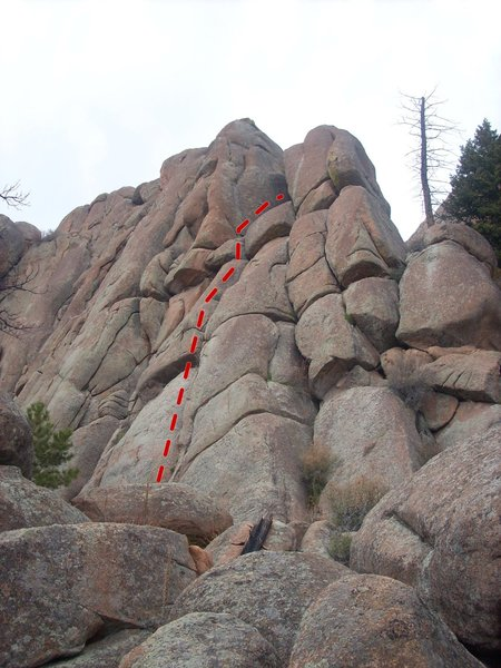 Rock Climbing Photo: See Snake Bounce follows the crack system to the r...