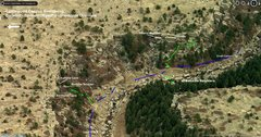 Rock Climbing Photo: Overview of Corridor Area and other areas.   Blue ...