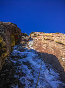 Rock Climbing Photo: The second pitch, thin and disappearing quickly (1...