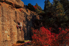 Rock Climbing Photo: Caitlin on the Warm-up Wall.   Photo date: October...