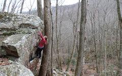 Rock Climbing Photo: Ally Higgins on Top Ramen