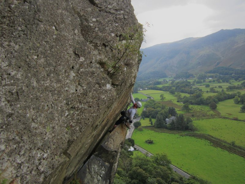 Andy Ross on The Bludgeon ..Shepherds Crag Borrowdale Valley