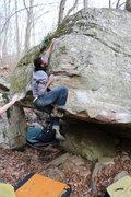 Rock Climbing Photo: Ronnie Black Sending Inglorious
