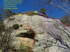 Rock Climbing Photo: Currahee - Right side of Buzzard Wall