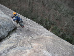 Rock Climbing Photo: Looking down on the third pitch... pretty sure I w...