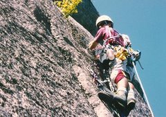 Rock Climbing Photo: Second pitch of British when we where young and re...