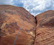 Rock Climbing Photo: Aaron on Galloping Gal