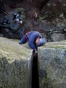 Rock Climbing Photo: Alan crushing Hypertension