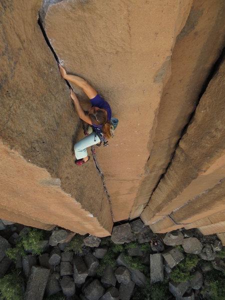 Rock Climbing Photo: Alix on JR Token