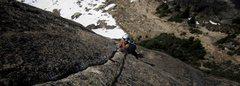 Rock Climbing Photo: Alix crushing the crux