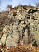Rock Climbing Photo: Route taken