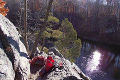 Rock Climbing Photo: The view from the top of Sterling's Double Cracks ...