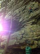 Rock Climbing Photo: Start of Lounge Lizard