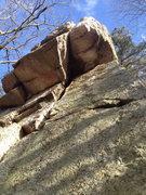 Rock Climbing Photo: Mild roof.