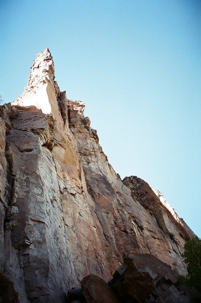 Rock Climbing Photo: This multi-pitch pitch tower at the end of the tra...