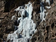 Rock Climbing Photo: Glenwood Falls from the road 12-18-13.
