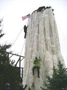 Rock Climbing Photo: climbing silo ice