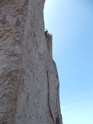 Rock Climbing Photo: Lowering back into shade after drilling in the Equ...