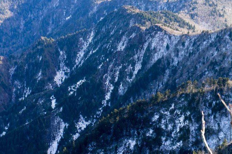 Rock Climbing Photo: Landslide gullies
