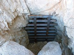 Rock Climbing Photo: One of the many closed adits in the area, Joshua T...