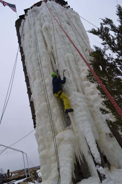 Rock Climbing Photo: Ice today
