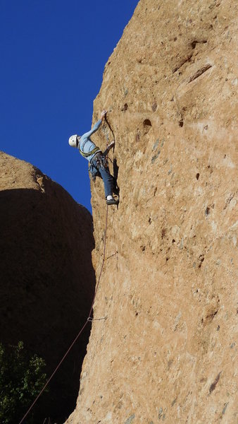 "Rock Climbing Photo: Fighting the pump clock on ""Amarillo By Morni..."