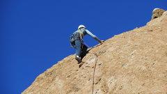 "Rock Climbing Photo: Cruising the upper slab on ""Amarillo By Morni..."