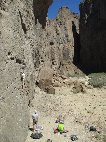 Rock Climbing Photo: Bill Bjornstad on a 5.9 at El Circo, Piedra Parada