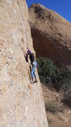 """Rock Climbing Photo: Getting acquainted with the features on """"Texa..."""