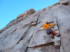 Rock Climbing Photo: Jackson on his on-sight lead. The opening moves. S...