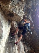 Rock Climbing Photo: Going ground up for the FA on H3.