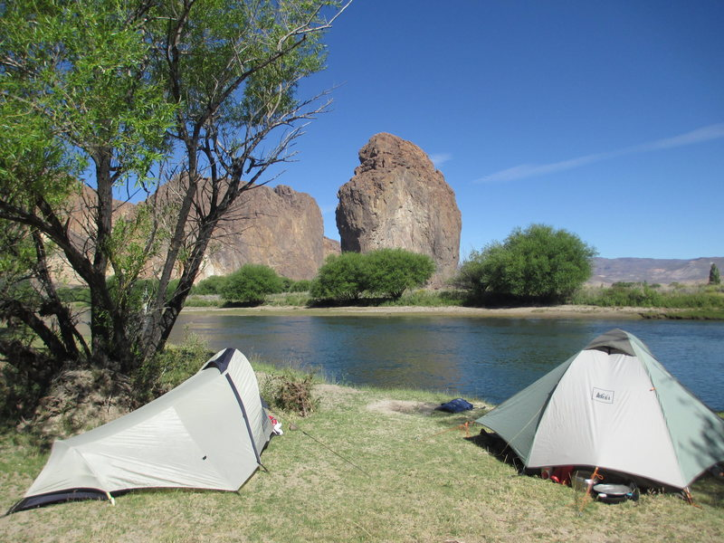 Rock Climbing Photo: Camping by the river at Mario's Farm/Campground
