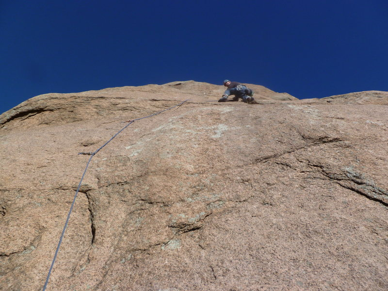 Rock Climbing Photo: On the lower part of the route.