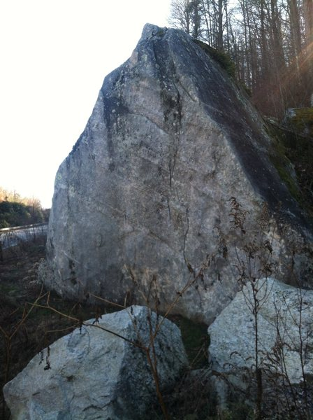 Rock Climbing Photo: The north side of the Front Door Boulder.