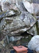 North side of the Cave Boulder.