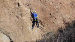 Rock Climbing Photo: Grainy and pumpy, the initial headwall on the Kore...