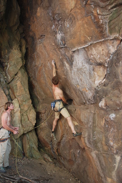 Rock Climbing Photo: Me starting up The Black Death.