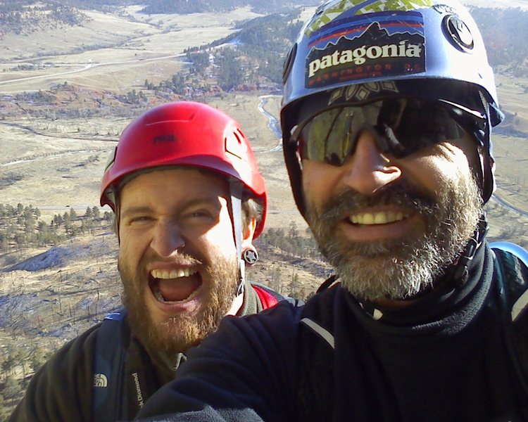 Rock Climbing Photo: DEC 1 2013 summit  Leigh and Ty