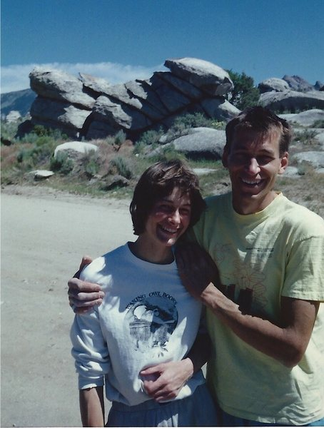 Rock Climbing Photo: Bret and Judy Ruckman - road tripping, July 1989. ...