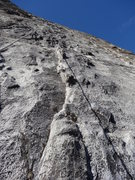 Rock Climbing Photo: The long sixth pitch of Golden Years