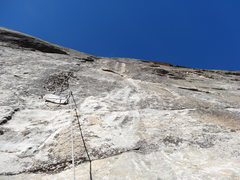 Rock Climbing Photo: The crux of Golden Years on pitch 3