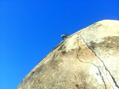 Rock Climbing Photo: Redpointing Equinox! Unlike my first lead go three...