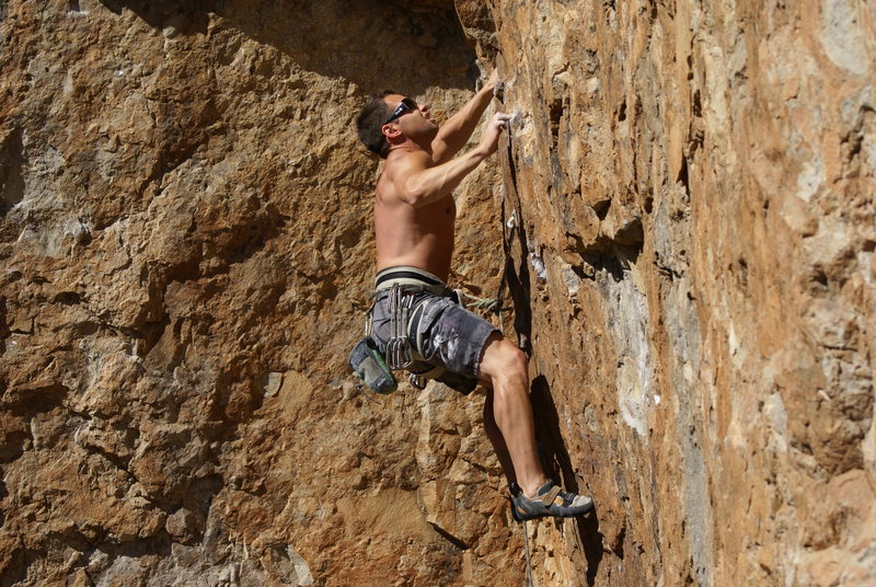Rock Climbing Photo: Joe W goes for the crux on El Nino.