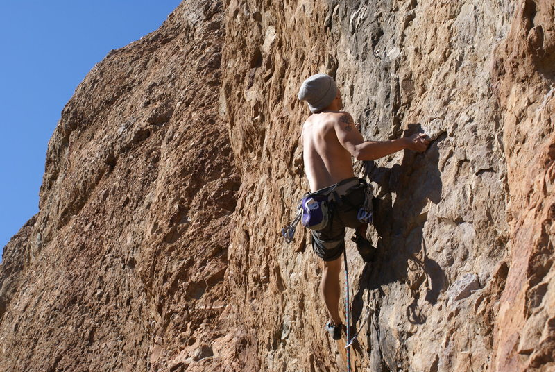 Rock Climbing Photo: Ryan B tries for the onsight of Blackjack!